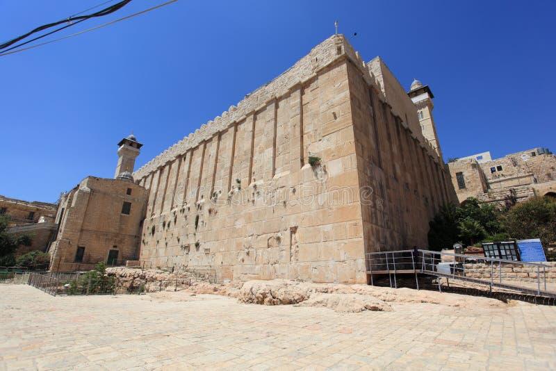 Cueva de patriarcas, Hebrón, sector judío imagenes de archivo