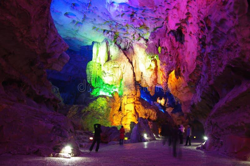 Cueva de siete estrellas en Guilin, China fotografía de archivo