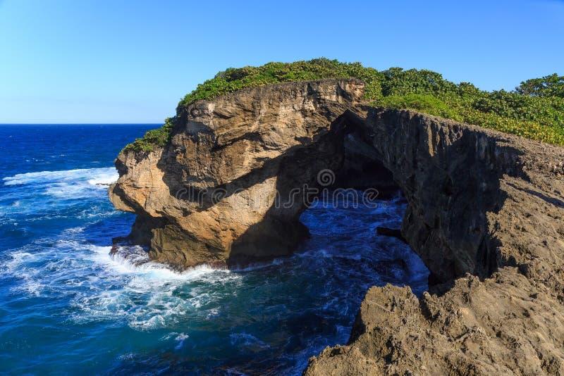 Cueva del Indio en Arecibo, Puerto Rico royaltyfri fotografi