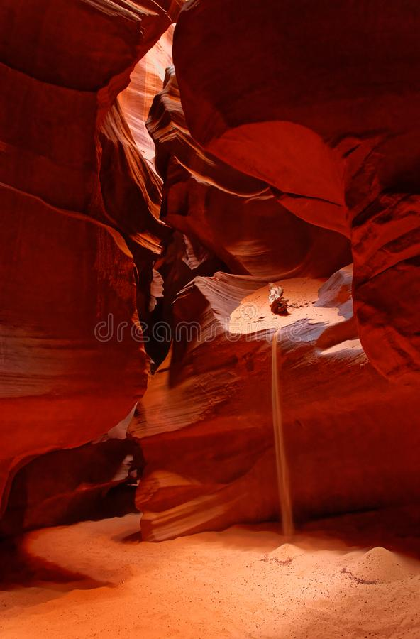 Cueva en barranco superior del antílope fotografía de archivo
