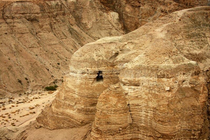 Cueva en Qumran imagen de archivo libre de regalías