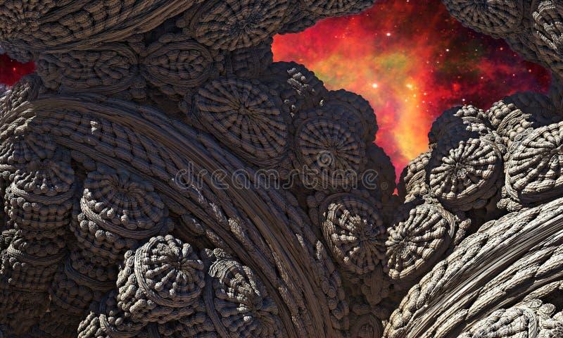 Cueva extranjera ilustración del vector