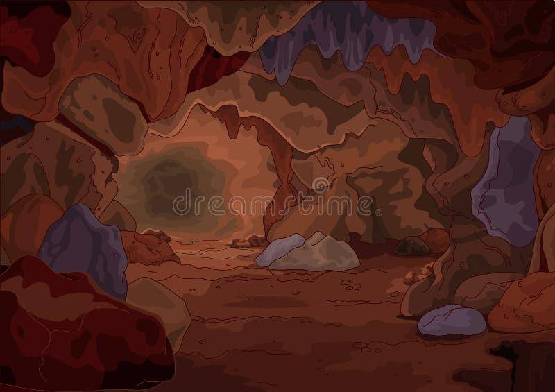 Cueva mágica ilustración del vector