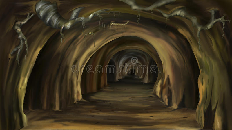 cueva misteriosa ilustración del vector