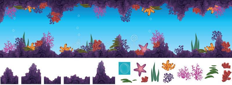 Cueva subacuática libre illustration