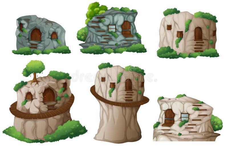 cuevas stock de ilustración