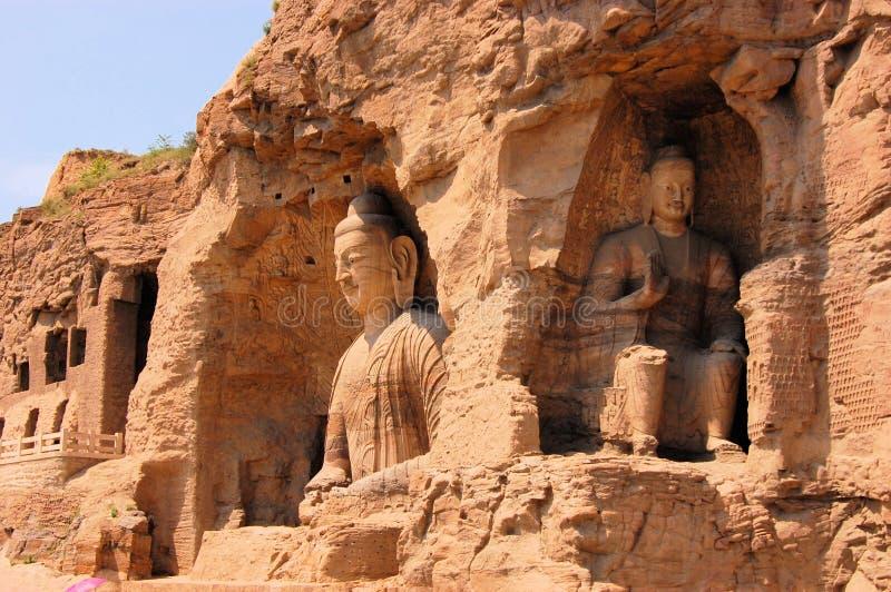 Cuevas budistas de las grutas de la UNESCO Yungang, China fotografía de archivo libre de regalías
