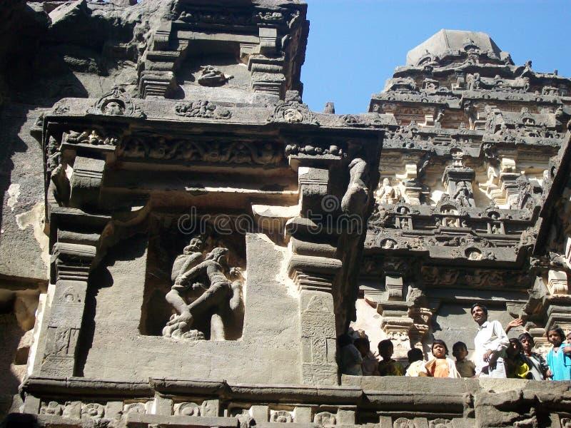 Cuevas de Ajanta en ciudad del aurangabad fotos de archivo