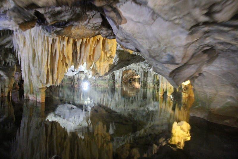 , Cuevas de Diros, Grecia foto de archivo