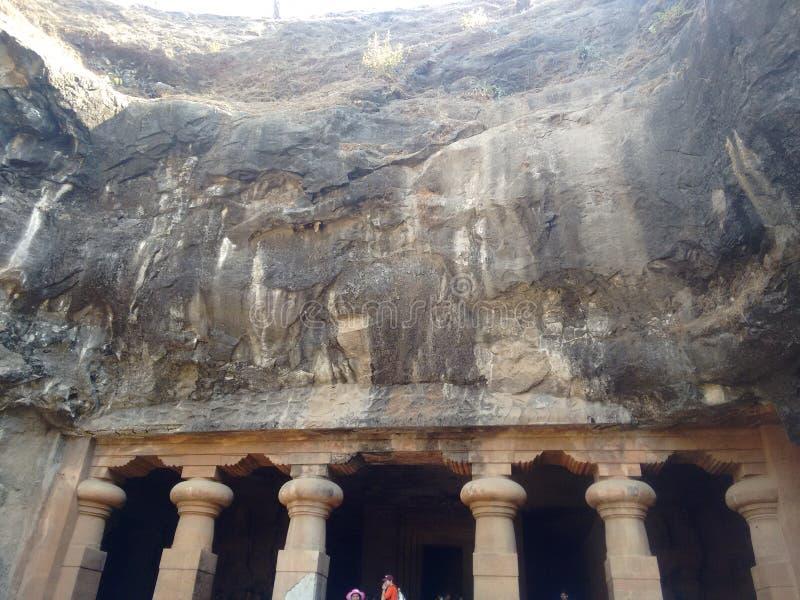 Cuevas de Elephanta fotos de archivo libres de regalías