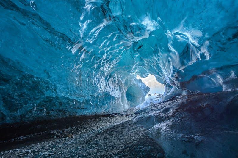 Cuevas de hielo en Islandia fotos de archivo libres de regalías