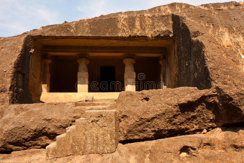 Cuevas de Kanheri imagen de archivo