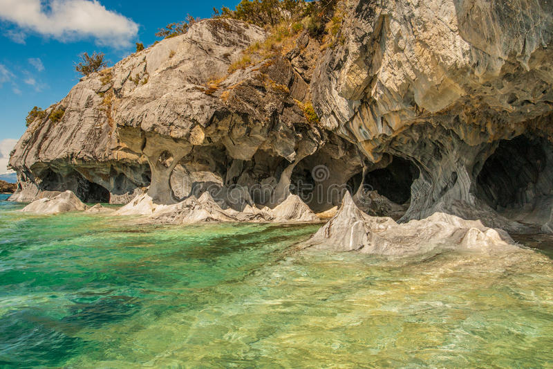 Cuevas de Marmol стоковое изображение rf