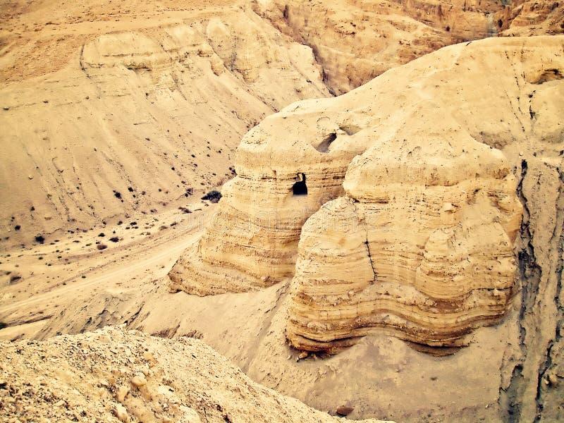 Cuevas de Qumran imágenes de archivo libres de regalías
