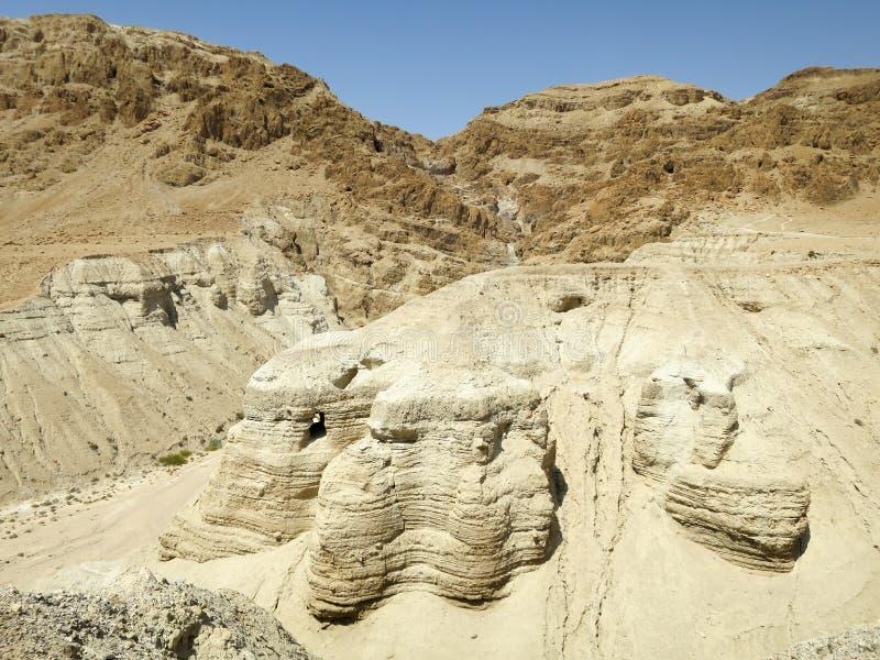 Cuevas de Qumran fotos de archivo