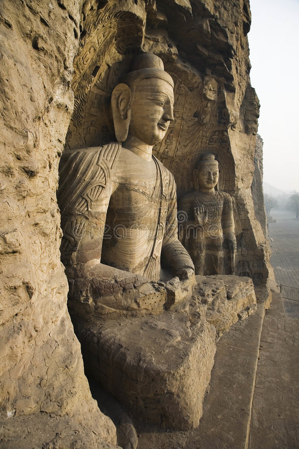 Cuevas de Yungang imagen de archivo libre de regalías