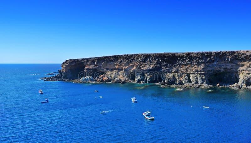 Cuevas en Ajuy, Fuerteventura fotografía de archivo
