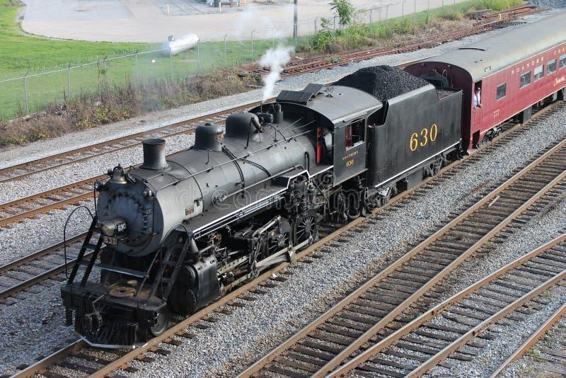 Cueza el tren al vapor de Chattanooga, TN a Summerville, GA fotografía de archivo libre de regalías