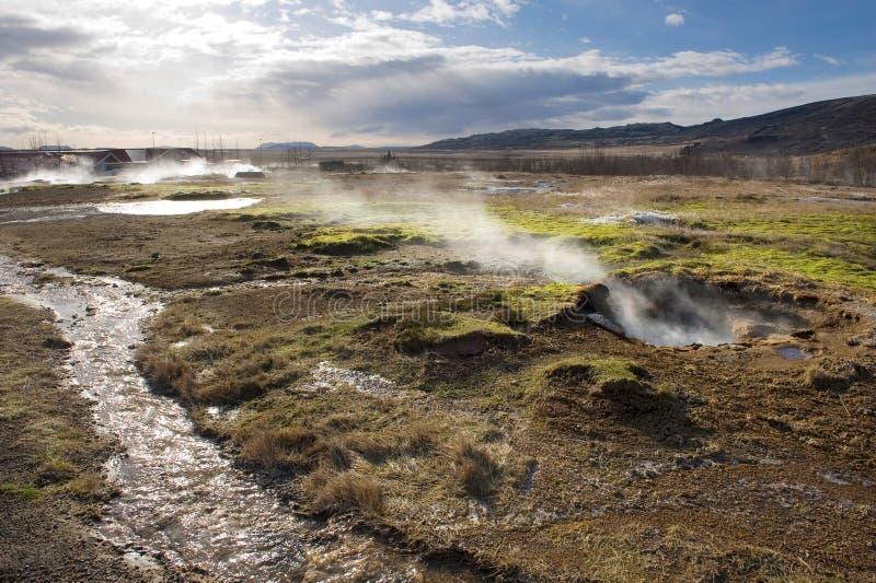 Agua caliente geotérmica foto de archivo libre de regalías