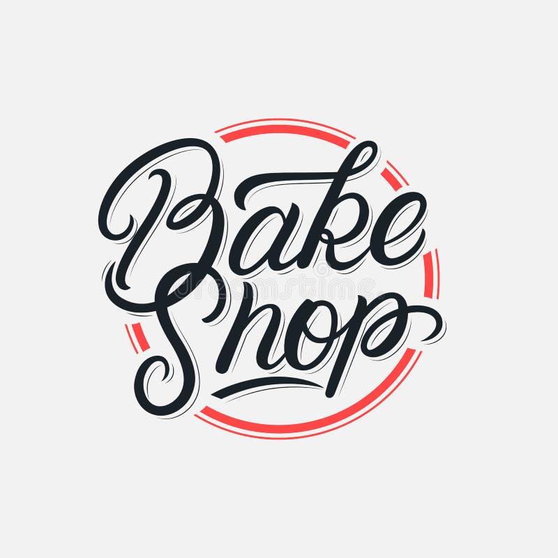 Cueza la tienda que pone letras al logotipo libre illustration
