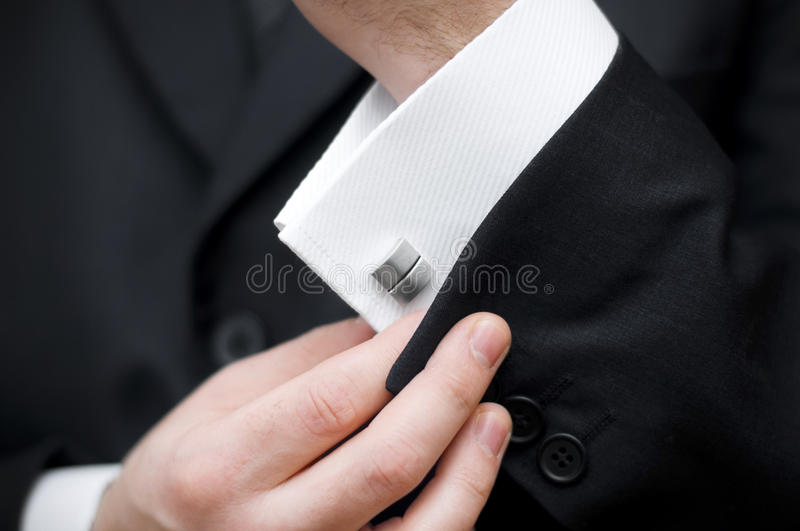 Cuff link royalty free stock photo
