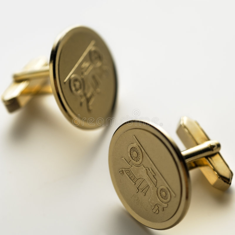 Cuff links royalty free stock photo