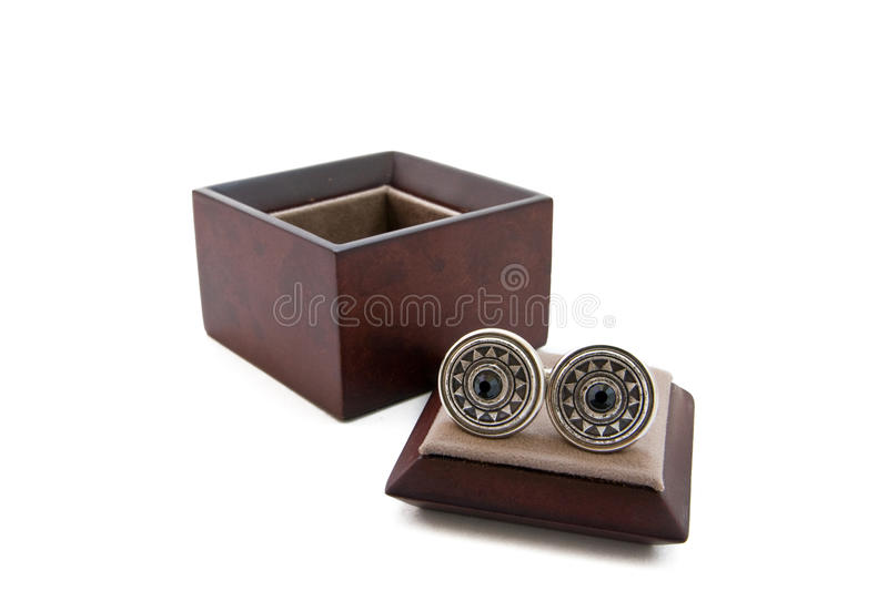 Download Cuff links in a box stock image. Image of open, pair - 16307665
