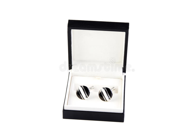 Download Cuff links in a box stock photo. Image of round, male - 18666732