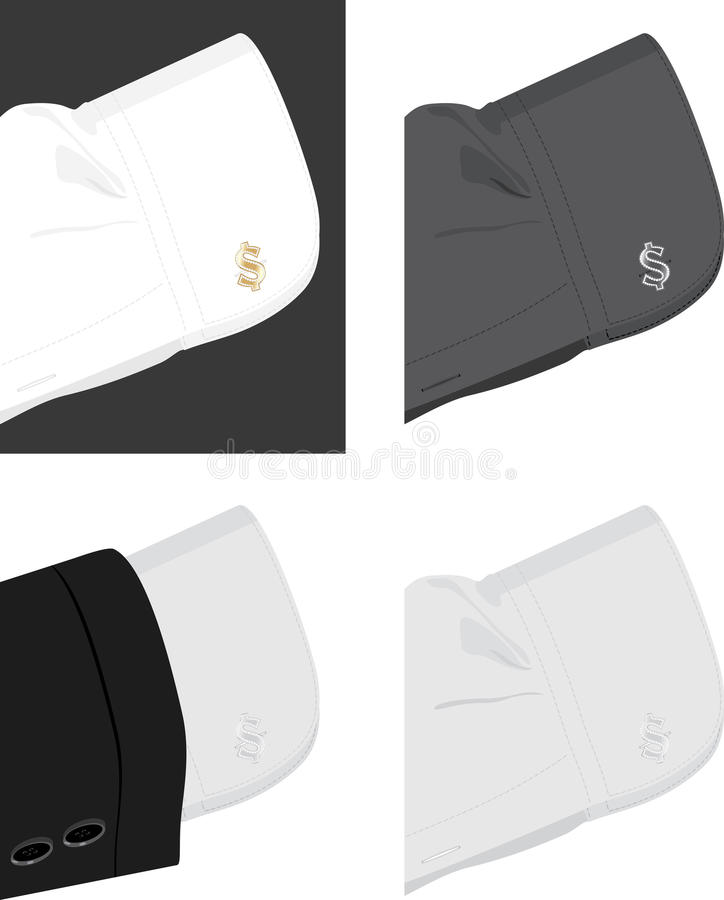 Download Cuff Shirt With Trendy Cufflinks Stock Vector - Image: 25239243