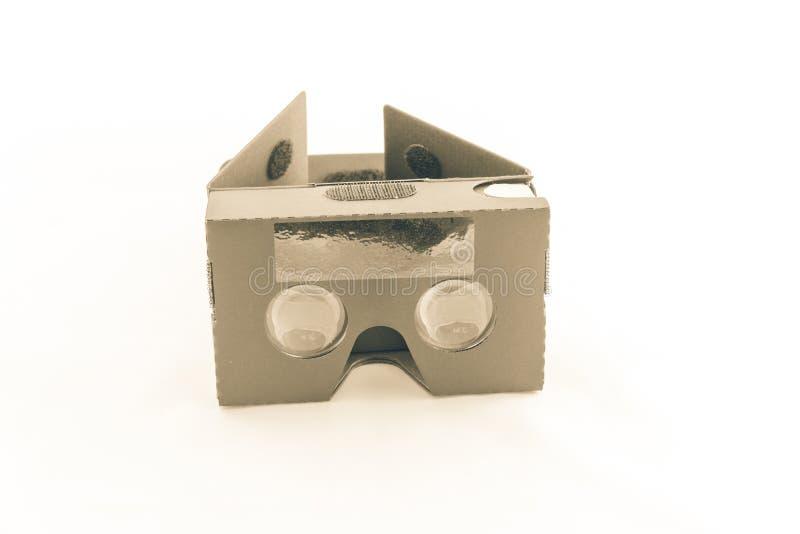 Cuffia avricolare grigia di realtà virtuale isolata fotografia stock libera da diritti