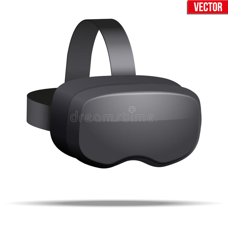Cuffia avricolare originale di 3d VR royalty illustrazione gratis