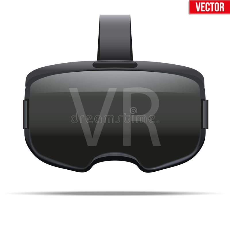 Cuffia avricolare stereoscopica originale di 3d VR royalty illustrazione gratis