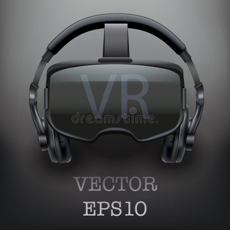 Cuffia avricolare stereoscopica originale di 3d VR illustrazione di stock