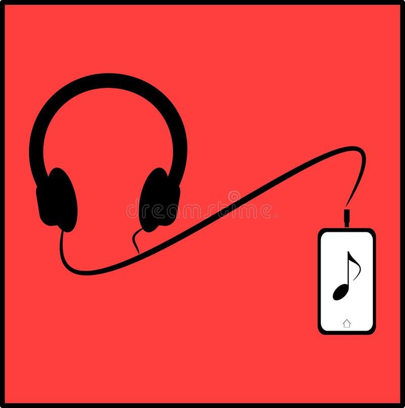 Cuffia e telefono illustrazione di stock