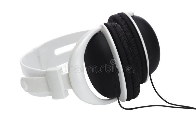 Cuffia stereo di plastica immagine stock libera da diritti