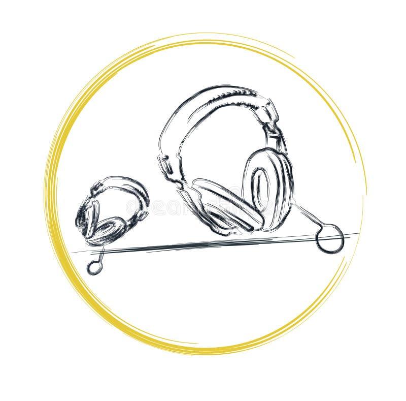 Download Cuffie illustrazione di stock. Illustrazione di cuffia - 201859