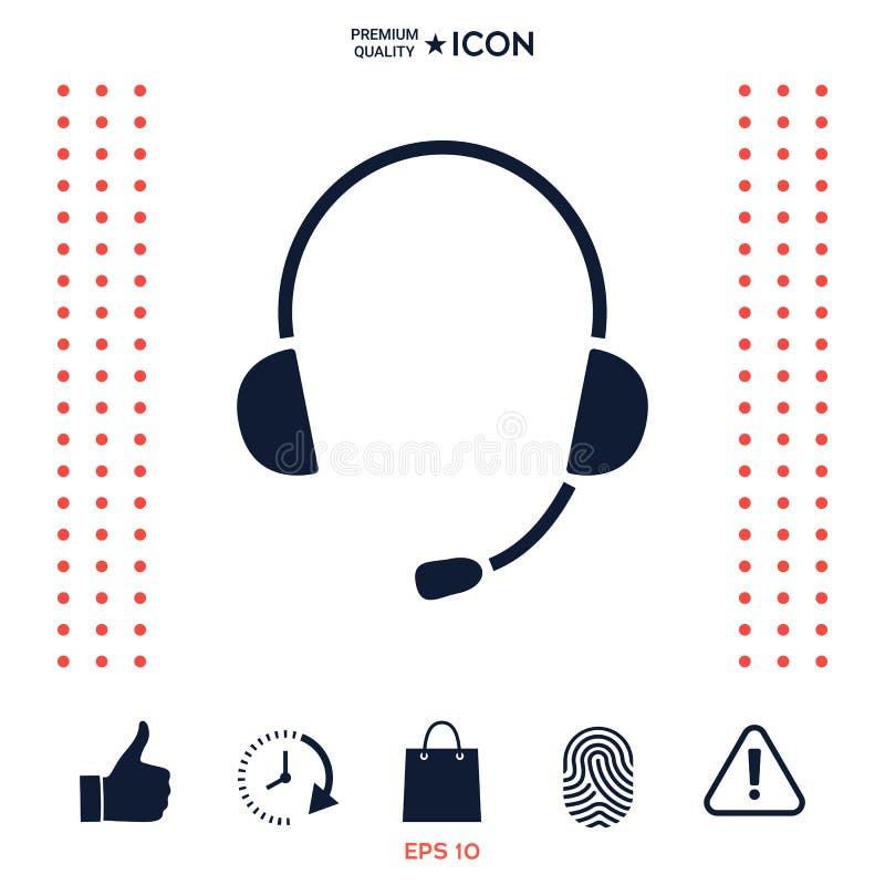 Download Cuffie Con L'icona Del Microfono Illustrazione Vettoriale - Illustrazione di servizio, supporto: 117975506