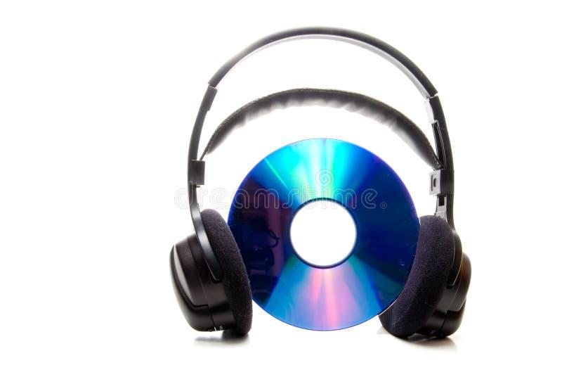 Cuffie e CD immagini stock