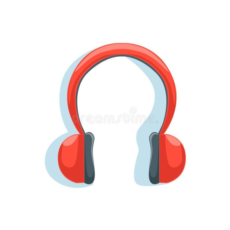Cuffie rosse senza fili per ascoltare la musica mentre eseguendo l'illustrazione di vettore dalla raccolta degli elementi essenzi royalty illustrazione gratis