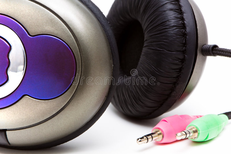 Cuffie stereo immagine stock libera da diritti