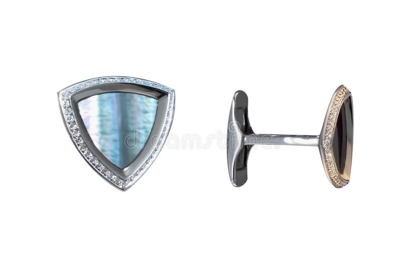 Cufflinks with mother of pearl royalty free stock image