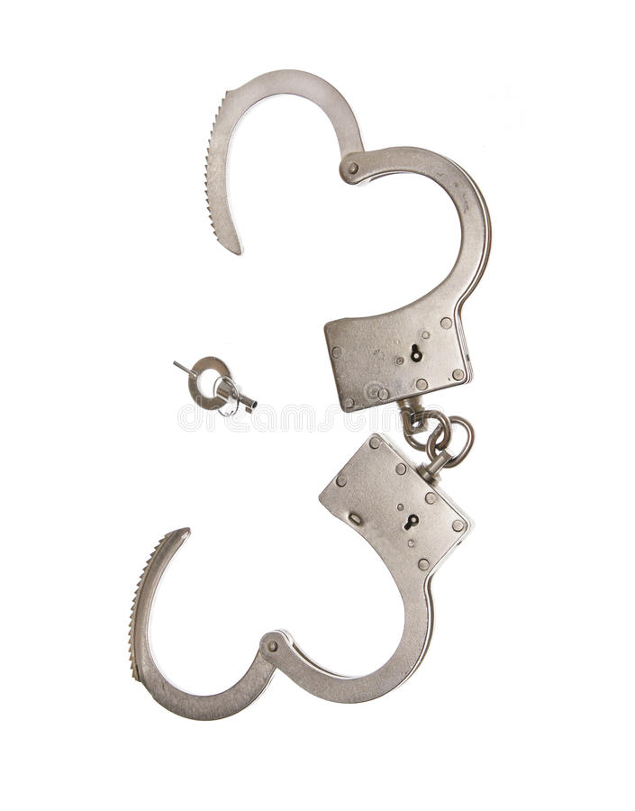 Cuffs a cadeia da segurança da lei do crime foto de stock royalty free