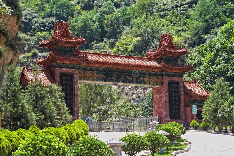 Cui wejściowa brama Huashan, Changan, Chiny obraz stock