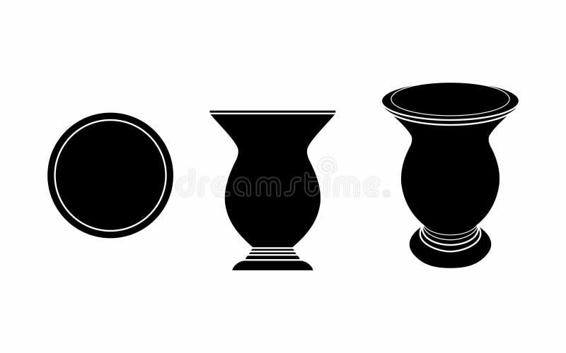 Cuia del terraplén del negro del compañero de Yerba ilustración del vector