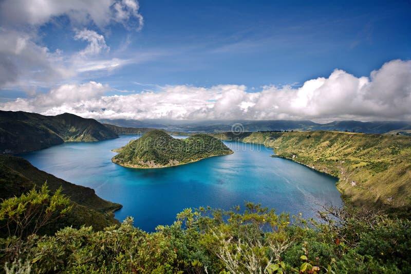 Cuicocha, Equateur photos stock