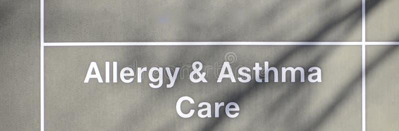 Cuidado da alergia & da asma imagens de stock royalty free