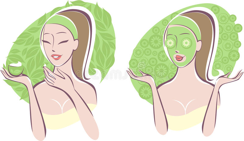Cuidado da beleza ilustração stock