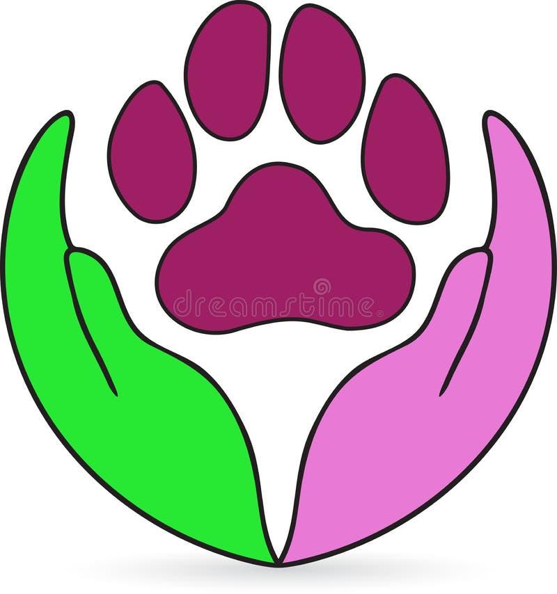 Cuidado de animal de estimação ilustração stock