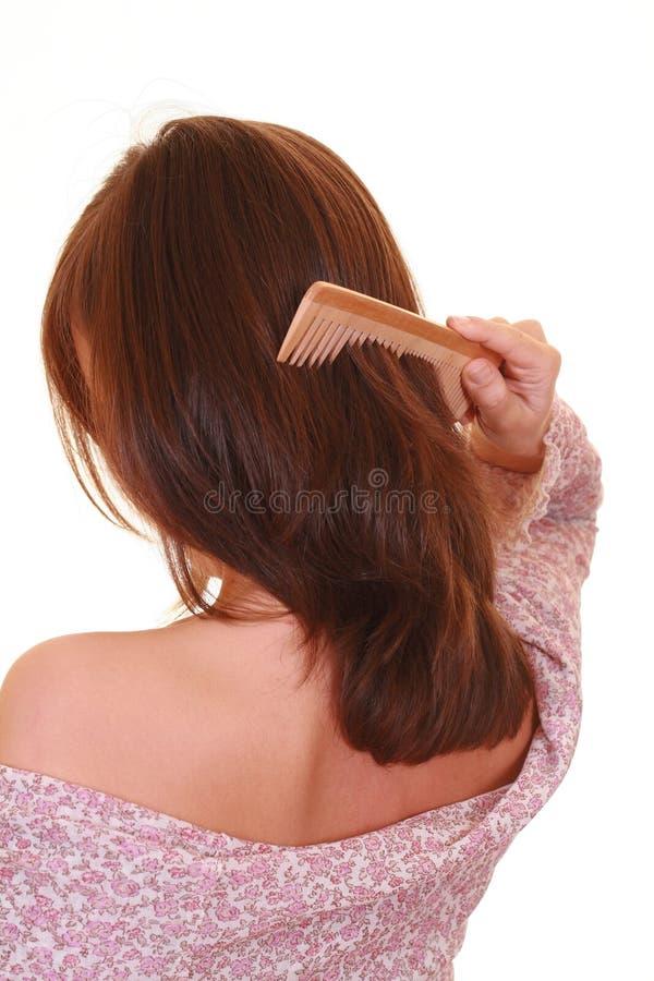 Cuidado de cabelo fotografia de stock