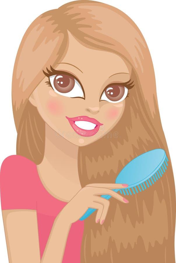 Cuidado de cabelo ilustração stock